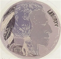 cowboys and indians - indian head nickel [ii.385] by andy warhol